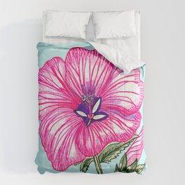 Flower sketch Comforters