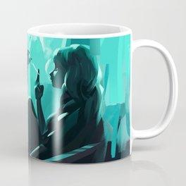 Lady Blue & Whiskers Coffee Mug