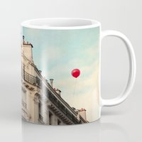 moulin rouge Mugs featuring Balloon Rouge by Alicia Bock