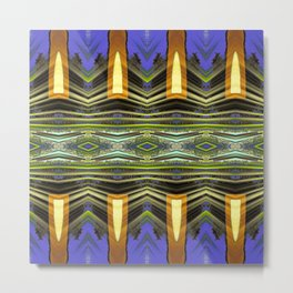 Goldenrod pillars pattern Metal Print