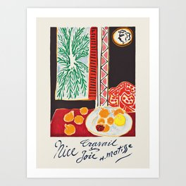 Nice - French travel poster by Henri Matisse, 1947 Art Print