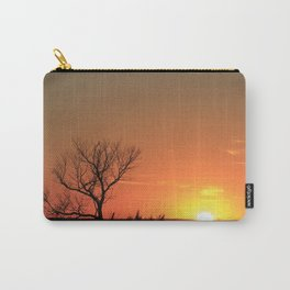 Kansas Golden Sunset with a tree Silhouette. Carry-All Pouch
