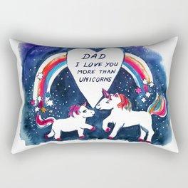 Unicorns Father's Day Rectangular Pillow