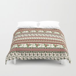 Mistletoe Ugly Sweater Duvet Cover