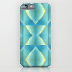 Green Blue Metallic Geometric Pattern iPhone 6s Slim Case