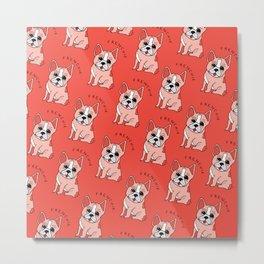 Frenchie Dog Metal Print