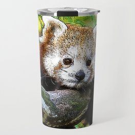 CArt red Panda Baby Travel Mug