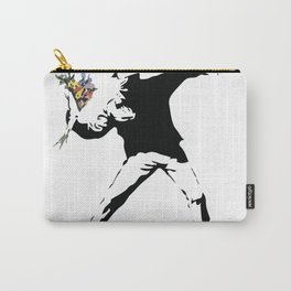Banksy Flower Thrower Carry-All Pouch