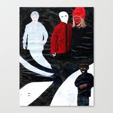 Mørk Svart Canvas Print