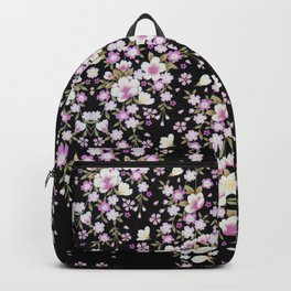 Cascading Pink Flowers Backpack