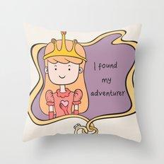I Found My Adventurer - Princess Throw Pillow