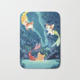 Cat fishes Bath Mat