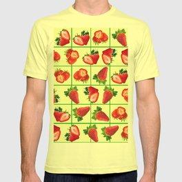 Strawberries pattern T-shirt