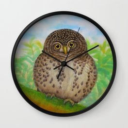 Collared Owlet Wall Clock
