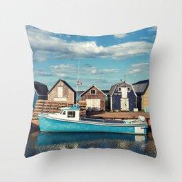 Island Wharf Throw Pillow