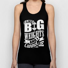I LIKE BIG WEIGHTS FUNNY GYM Unisex Tank Top