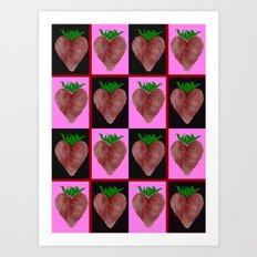 Strawberries Design Art Print