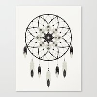 dreamcatcher Canvas Prints featuring Dreamcatcher by Bohemian Gypsy Jane