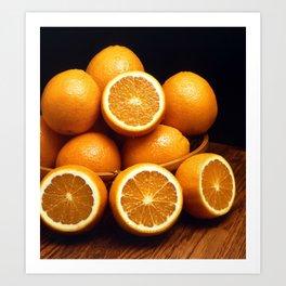 Oranges Piled Up Art Print
