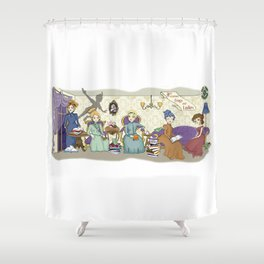 Victorian Frogs Shower Curtain