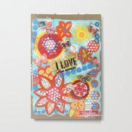 I Love Color! Metal Print