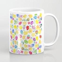 Tender chicks illustration | yellow watercolor pattern | alis| eastern pattern Coffee Mug