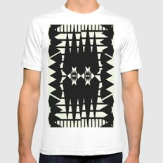 Microcosm MEDIUM Mens Fitted Tee White