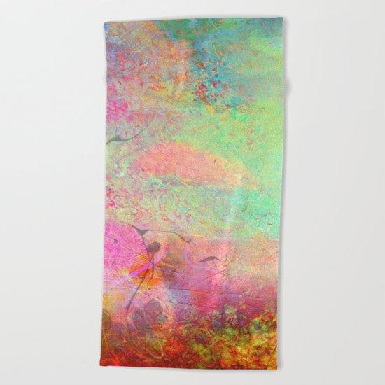 Abstract Texture 07 Beach Towel