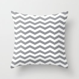 Grey Chevron Pattern Throw Pillow