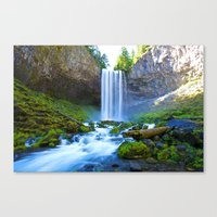 waterfall Canvas Prints featuring Waterfall by 2sweet4words Designs