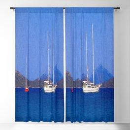 Sailing Ship Art Blackout Curtain