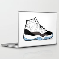 "air jordan Laptop & iPad Skins featuring Air Jordan XI Retro ""Concord"" by Graphkicks"