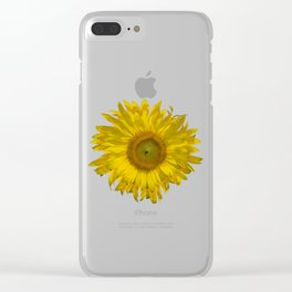 Yellow Sunflower Blossom Clear iPhone Case