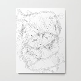 Abstract geometric crystal pendulums Metal Print
