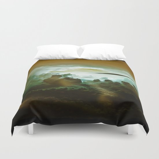 I Want To Believe - Gold Duvet Cover