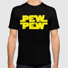 Pew Pew 3D SMALL Black Mens Fitted Tee