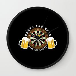 Weekend Forecast - Darts with a Chance of Drinking Wall Clock