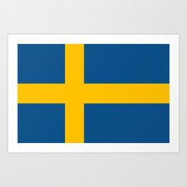flag of sweden Art Print
