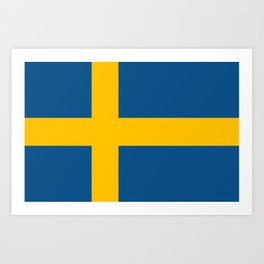 flag of sweden Art Print