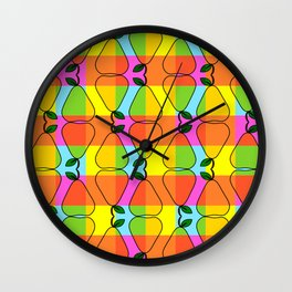Colorful pear pattern Wall Clock