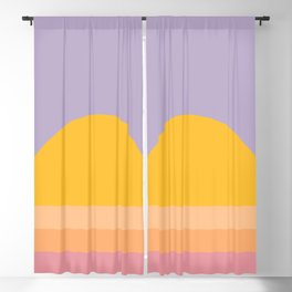 Retro Sunset - Bright Vibrant Colors Blackout Curtain