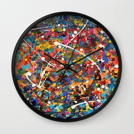 Colorful Impressions Wall Clock