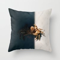 crab Throw Pillows featuring Crab by Bor Cvetko