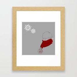 A Dae in Snow Framed Art Print