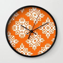 Orange Print 22 Wall Clock