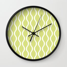 Classic Retro Ogee Pattern 731 Chartreuse Wall Clock