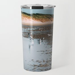 Low tide beach Travel Mug