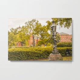 West Virginia Mountaineer Campus View Print Metal Print