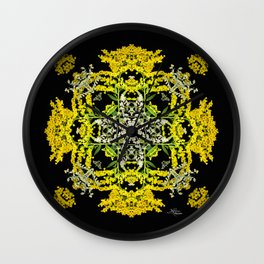 Crowning Goldenrod and Silver king Kaleidoscope Scanography Wall Clock