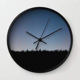 Mammoth at Dusk Wall Clock